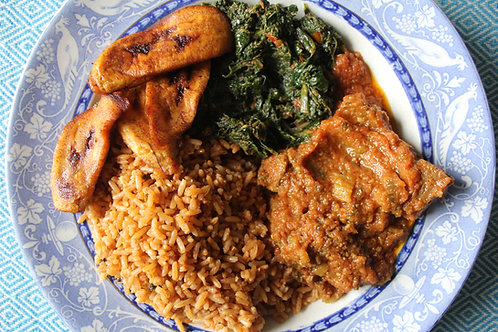 Cameroonian meal [meat option]
