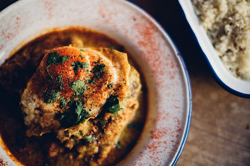East African Gujurati meal (chicken option)