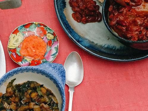 Rwandan meal (vegan option)