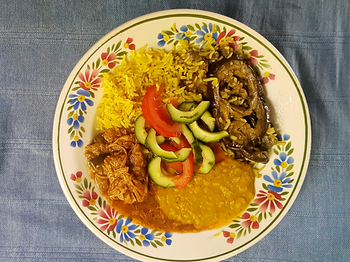 Anglo-Indian meal [chicken]