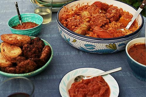 Libyan meal (lamb)