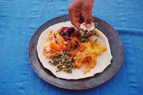 Ethiopian meal (vegan option)