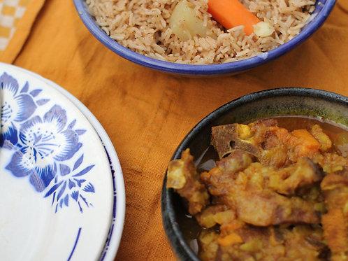 Swahili Coast meal (meat option)