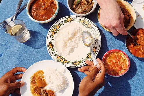Burmese meal (chicken option)