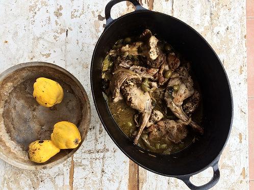 Autumn rabbit stew