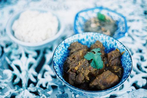 Burmese meal (pork option)