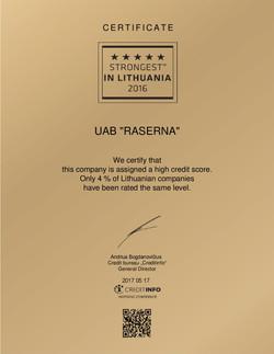 Sertifikatas UAB ''RASERNA''-001