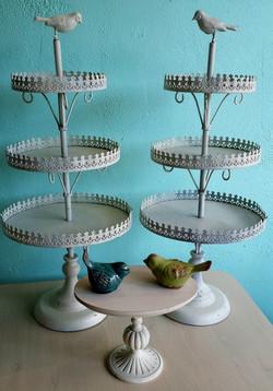 Lovebird cupcake towers