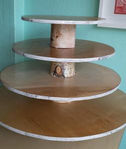 Birch tree cupcake tower