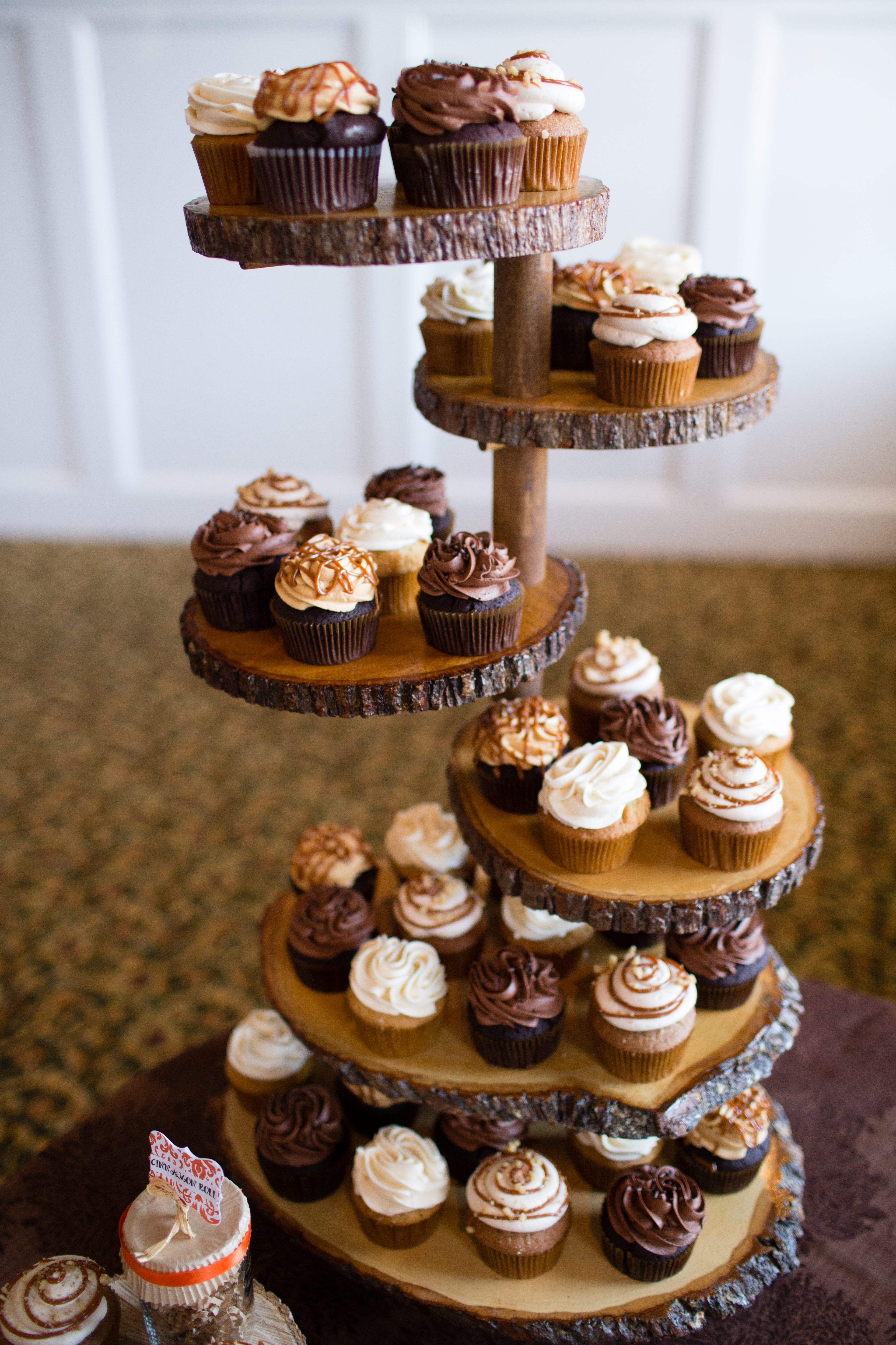 Real tree cupcake stand