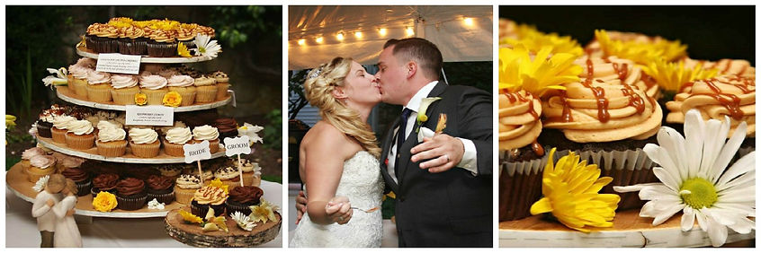 Wedding cupcakes in Manchester NH, New Hampshire, bride cupcake, groom cupcake,