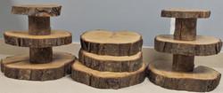 Short real tree cupcake towers