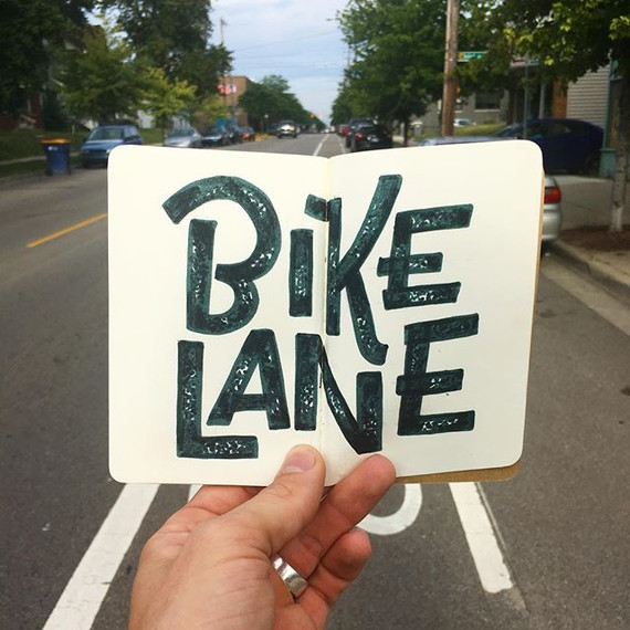 Life in the bike lane._•_•_•_•_#letterin