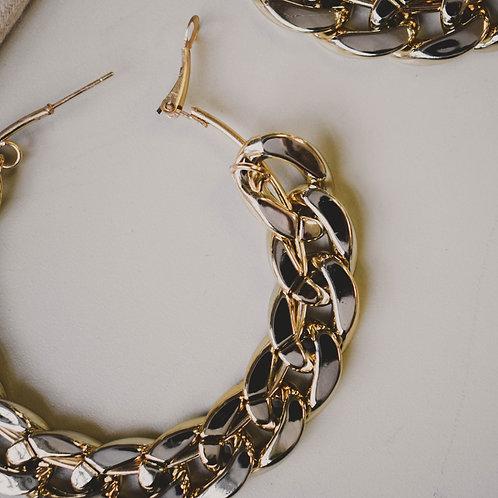 60mm Chain Hoop Earrings