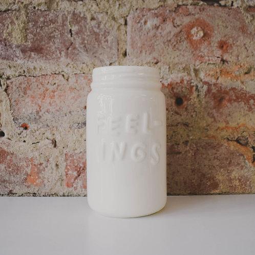 Feeling Ceramic Mason Jar