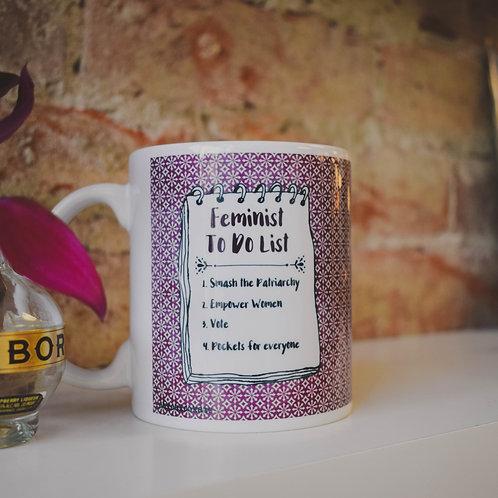 Feminist To Do List Mug