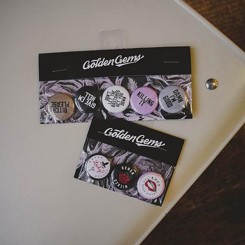Golden Gems Babe Button Sets