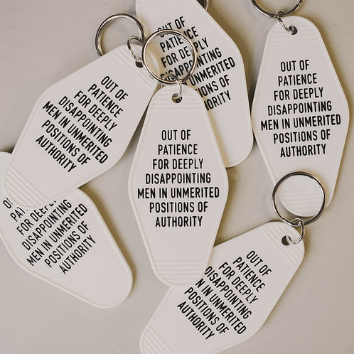 Out of Patience Motel Keychain