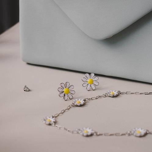 Silver Daisy Studs