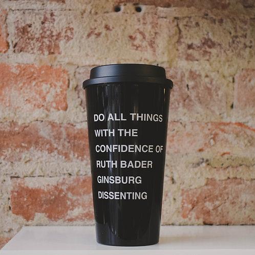 RBG Black Travel Mug