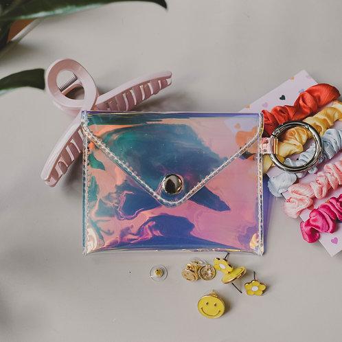 Clear Card Wallet Keychain