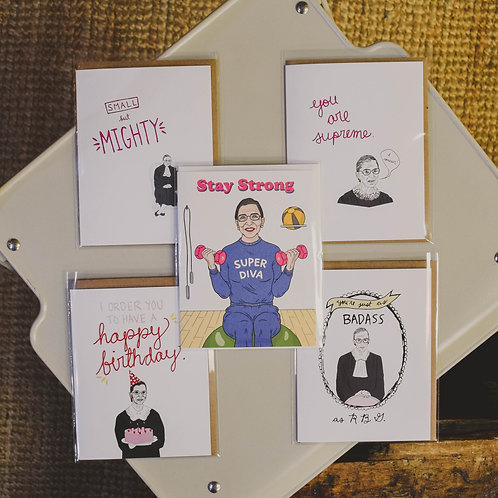 Ruth Bader Ginsburg Cards