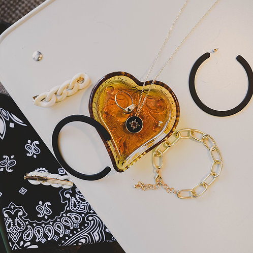 Hallow Star Black + Gold Necklace