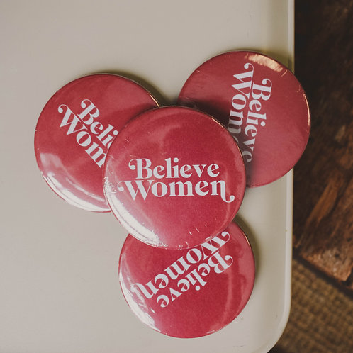 Believe Women Button