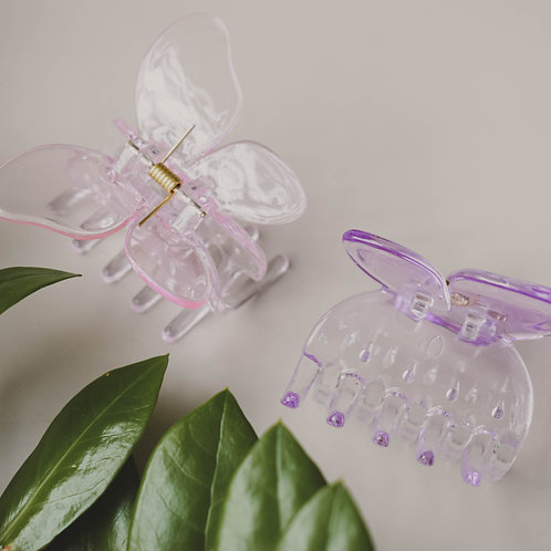Clear Butterfly Hair Claws