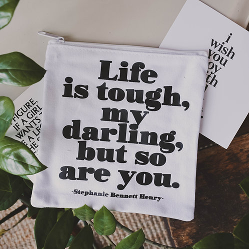 Stephanie Bennett Henry Quote Pouch