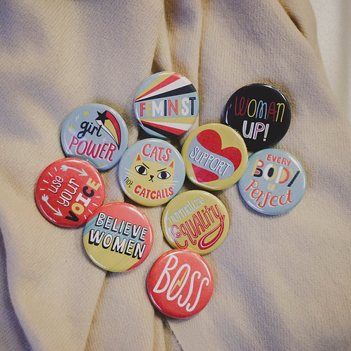 Badge Bomb Buttons