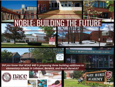 Noble: Building the Future 9.13.21 at Vivian E Hussey School 6pm