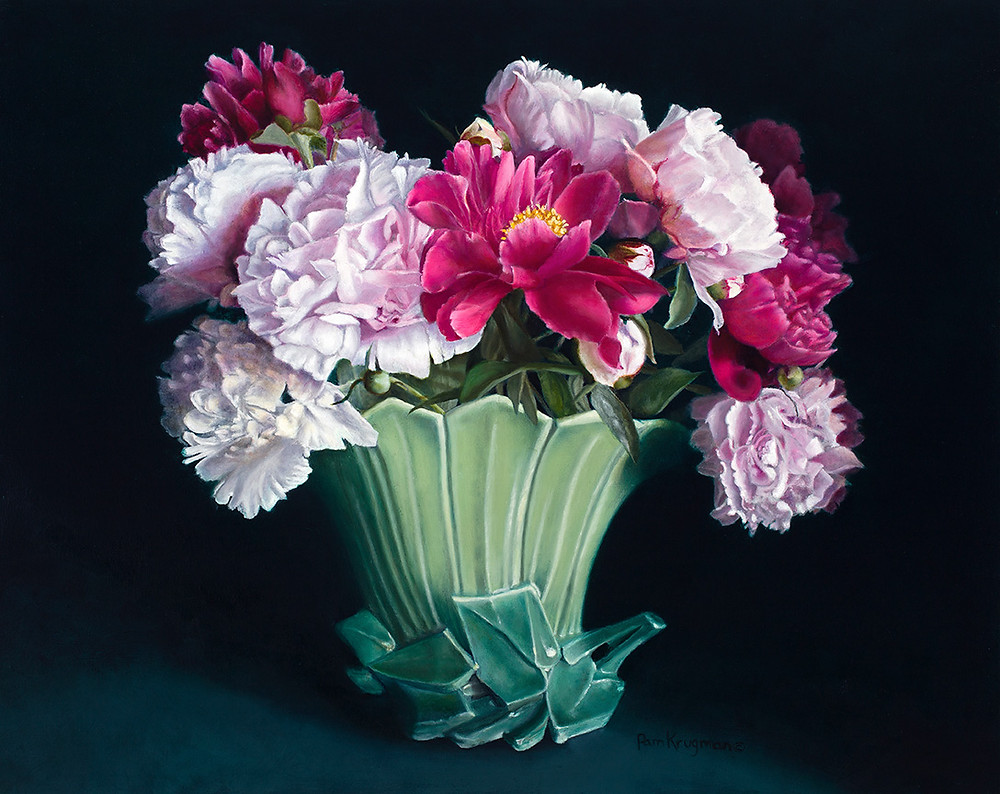 loveland painting class example of flowers