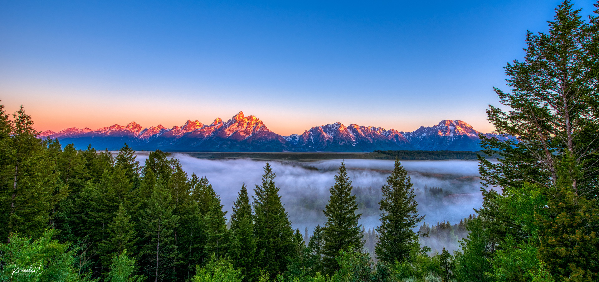 Grand Teton Alpenglow, WY