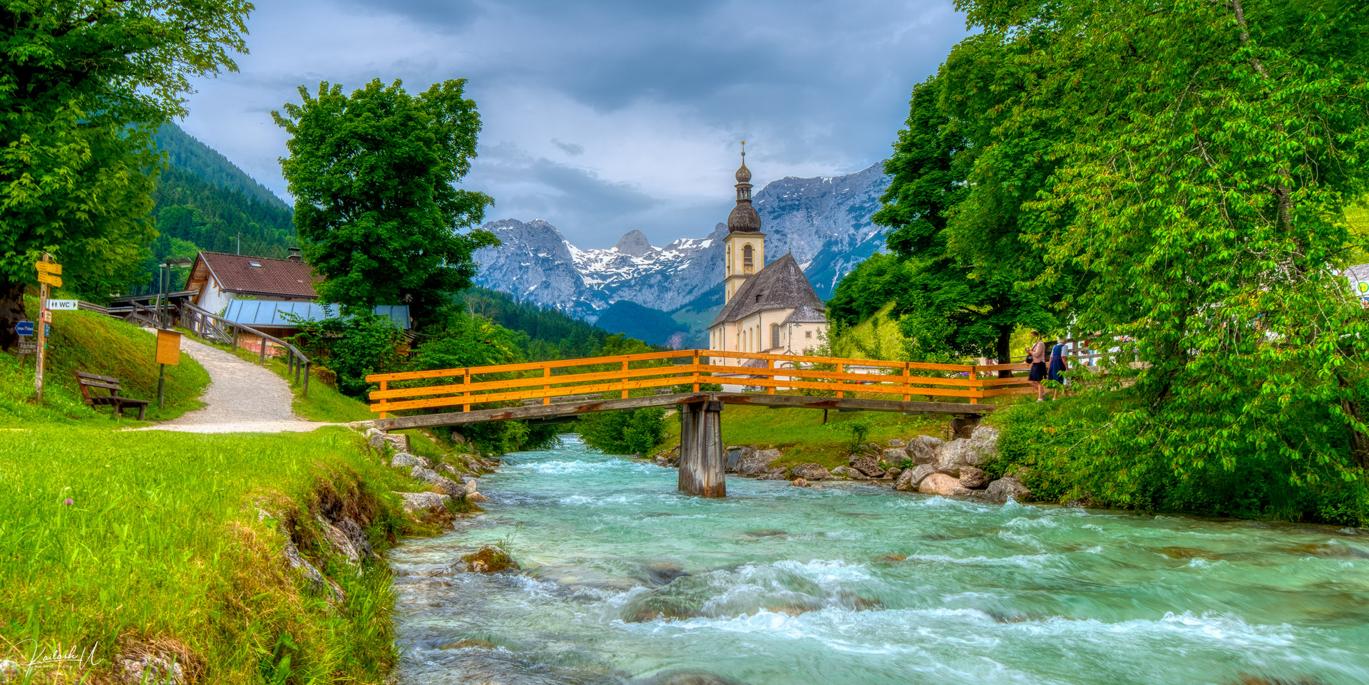 Church in Ramsau bei Berchtesgaden, Germany