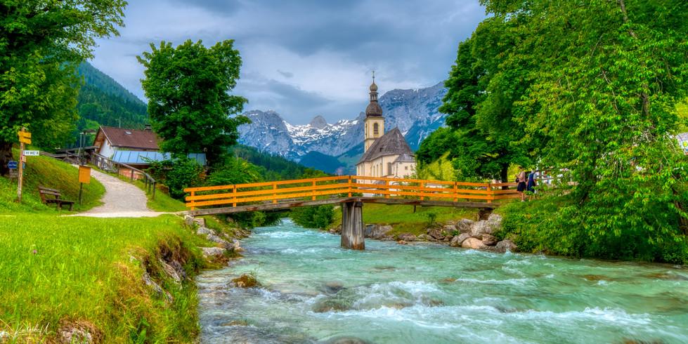 Church in Ramsau bei Berchtesgaden, Germany