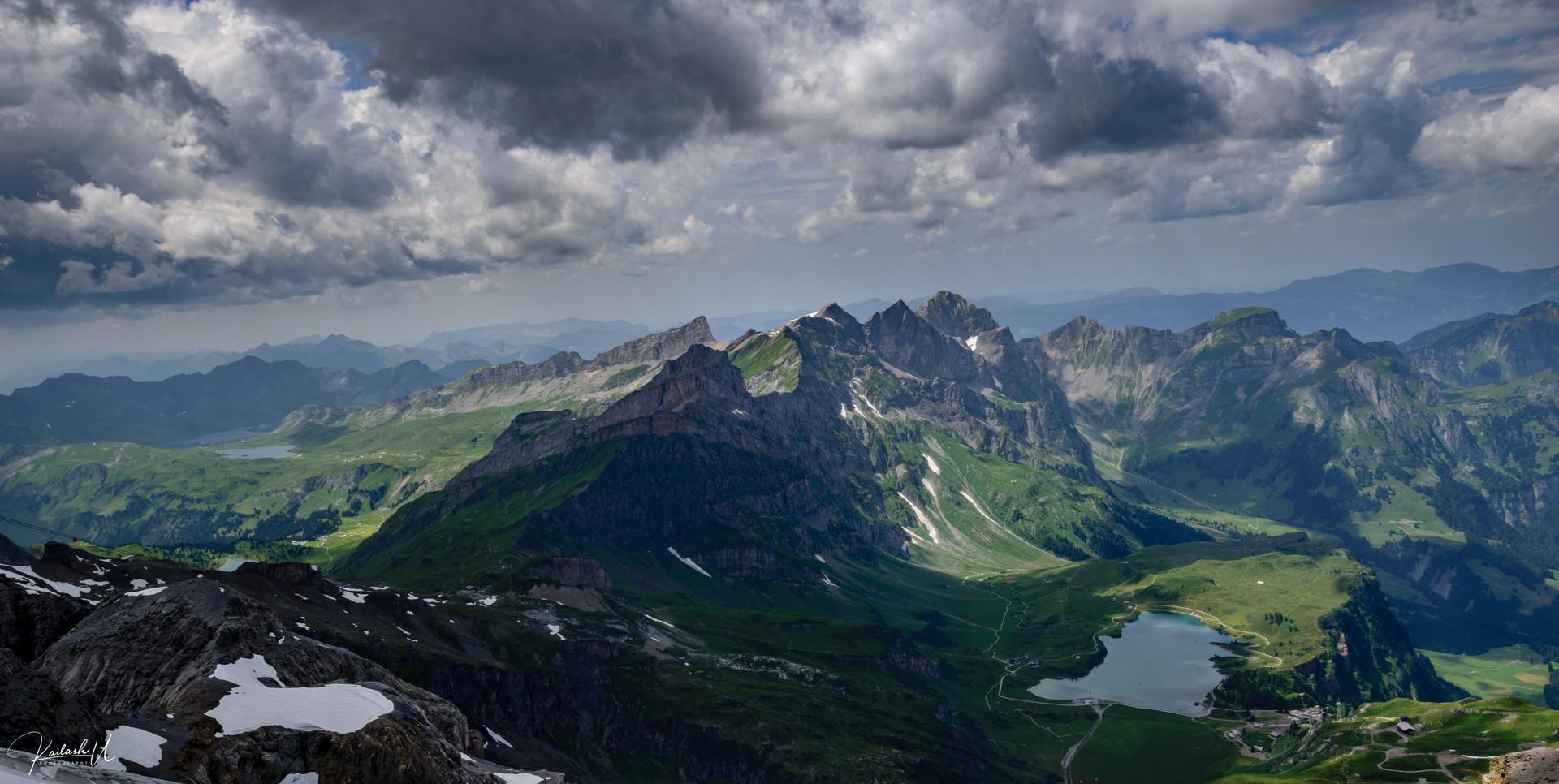 Alpine lake in Switzerland