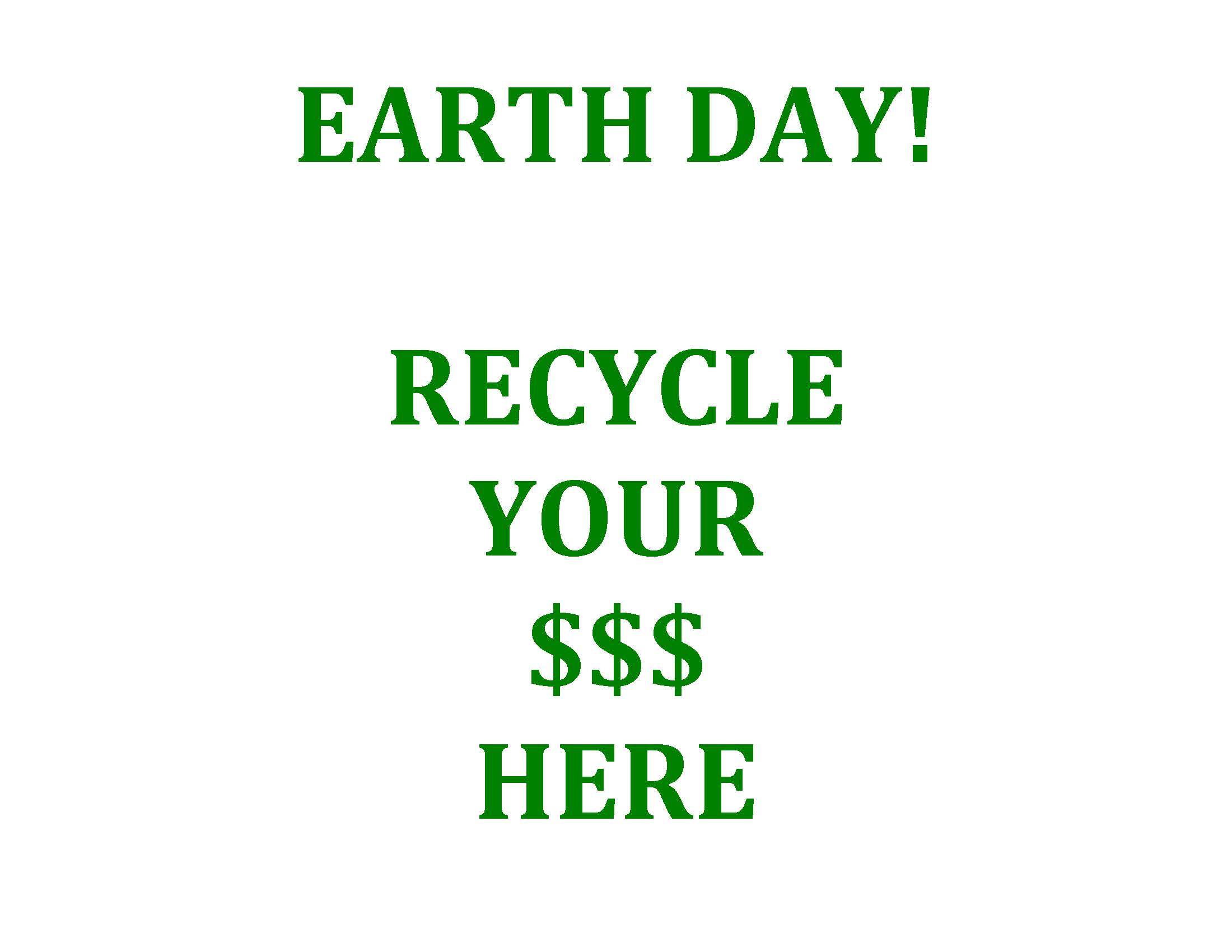EARTH DAY Recycle-tips