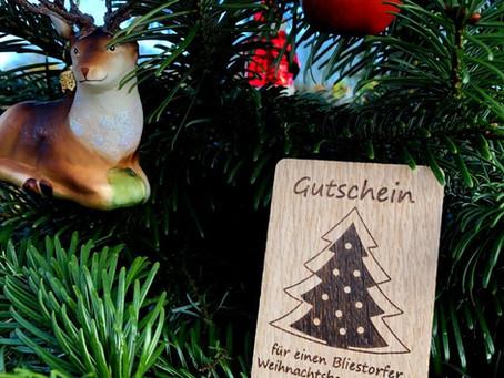 Weihnachtsbaumgutscheine