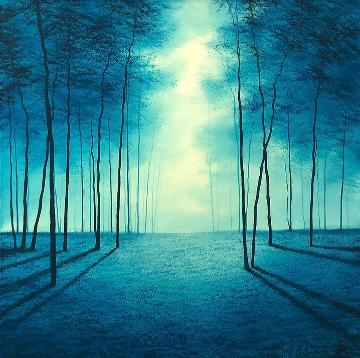 ALIGHT |Acrylic on Canvas | 80x80cm | €2500