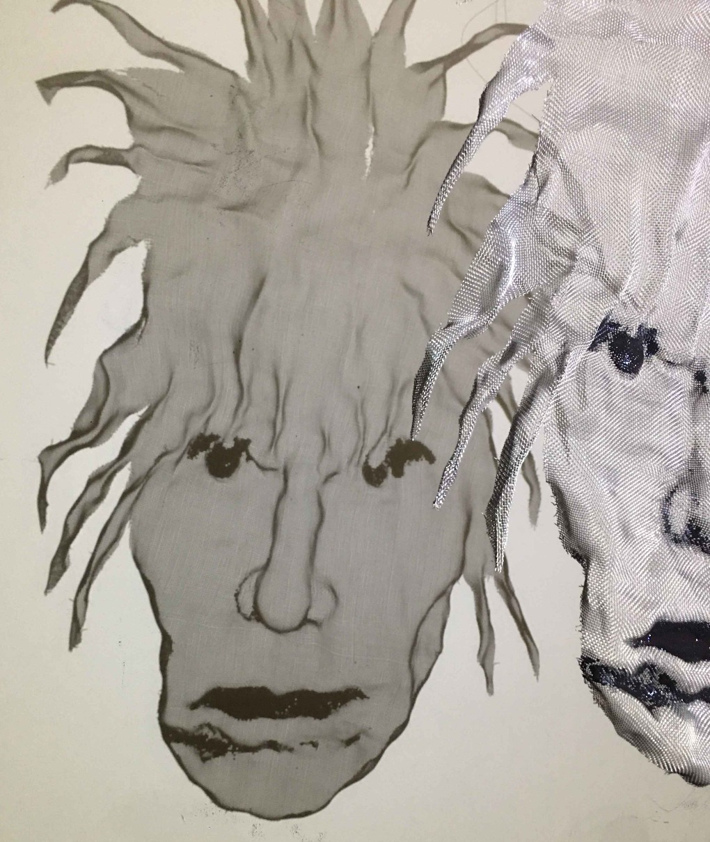 wire mesh sculpture portraits