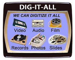 video, film, audio, photos converted to digital in Vermont