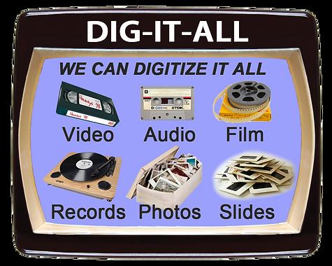 videotape, audiotape, film, records transfer to digital, dvd, cd