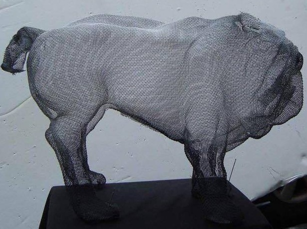 wire mesh sculpture English Pugh