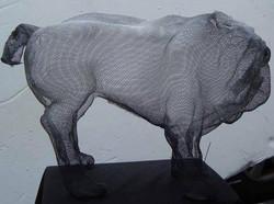 wire mesh sculpture English Pugh