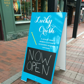 Lucky Crush Sandwich Board