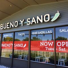 Bueno y Sano South Burlington Sign