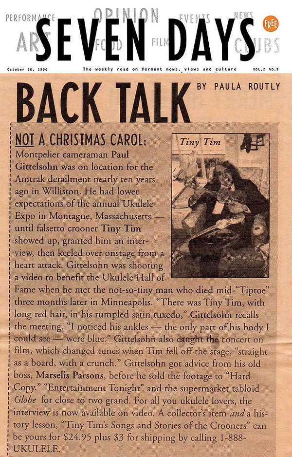 Tiny Tim video article