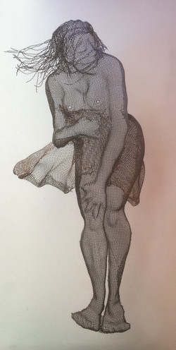 wire mesh sculpture nudes