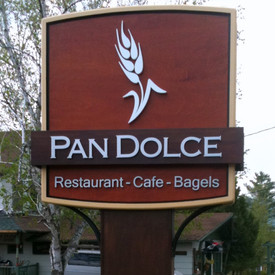 Pan Dolce Restaurant Sign